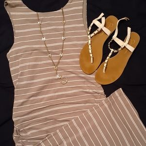 Athleta Striped Midi Dress